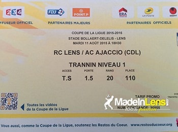 MadeInLens RC Lens AC Ajaccio CdL stade Bollaert Delelis