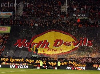 North Devils RC Lens supporters