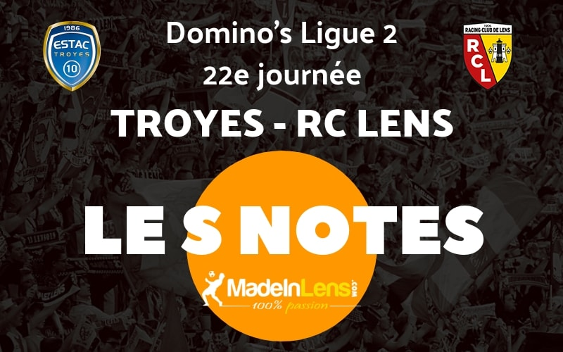 22 Troyes RC Lens Notes