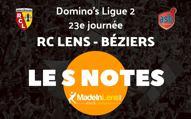 23 RC Lens AS Beziers Notes