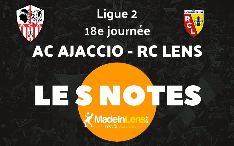 18 AC Ajaccio RC Lens notes